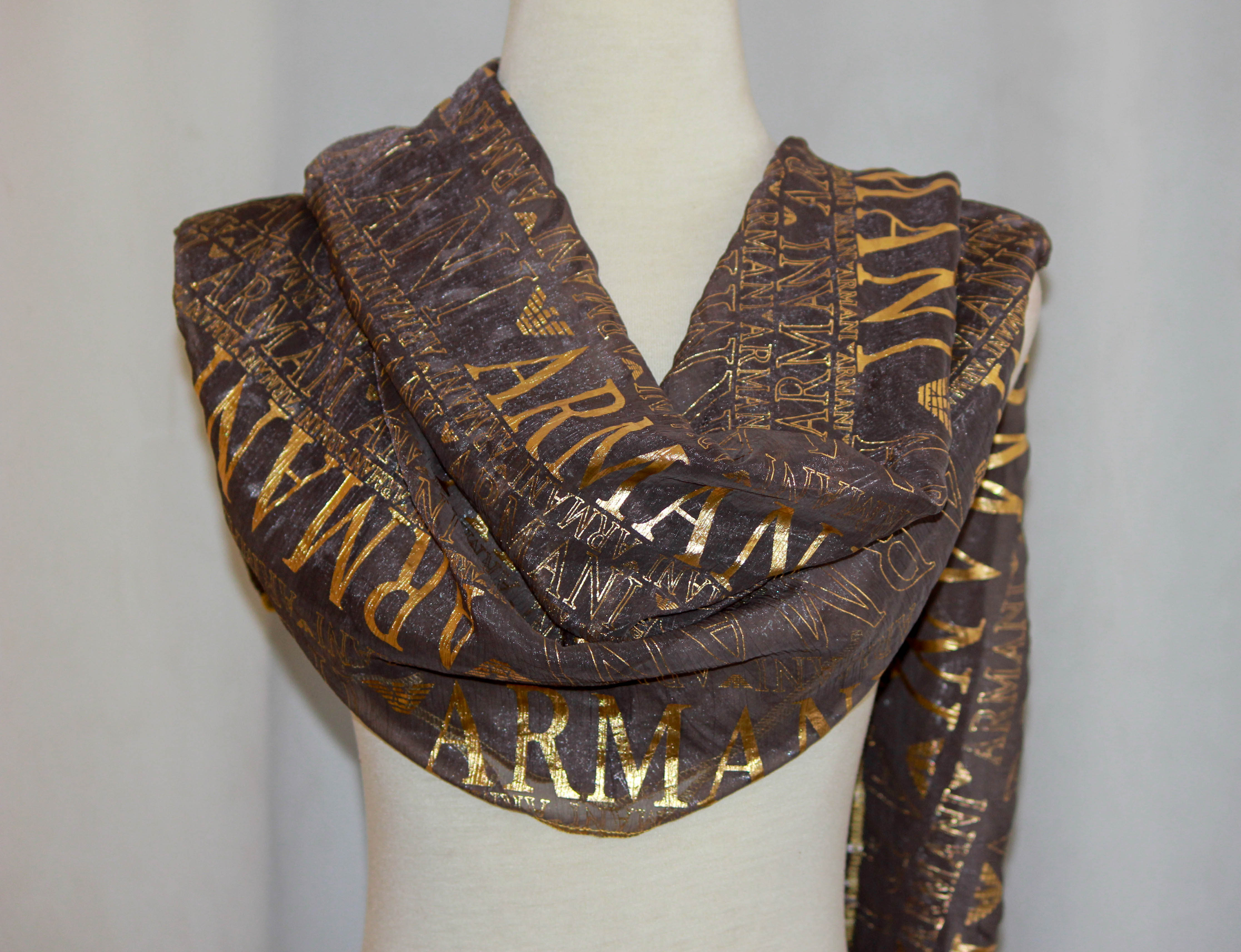 Armani Print Scarf on arewa fashion