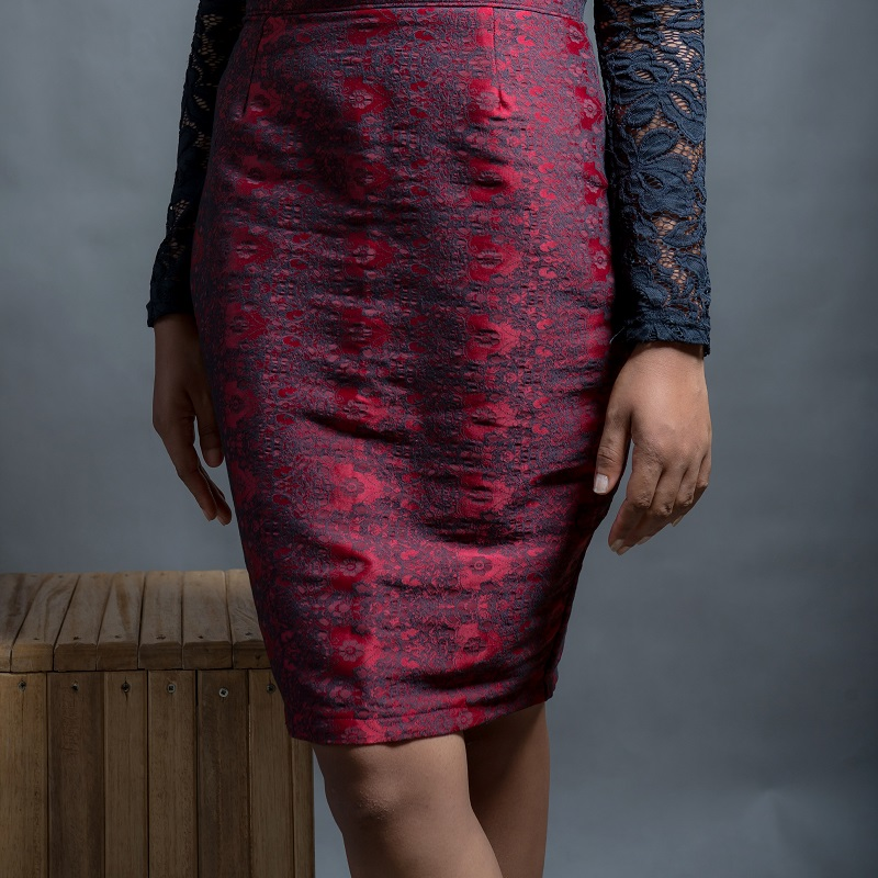 Debbie Jacquard Print Pencil Skirt on arewa fashion