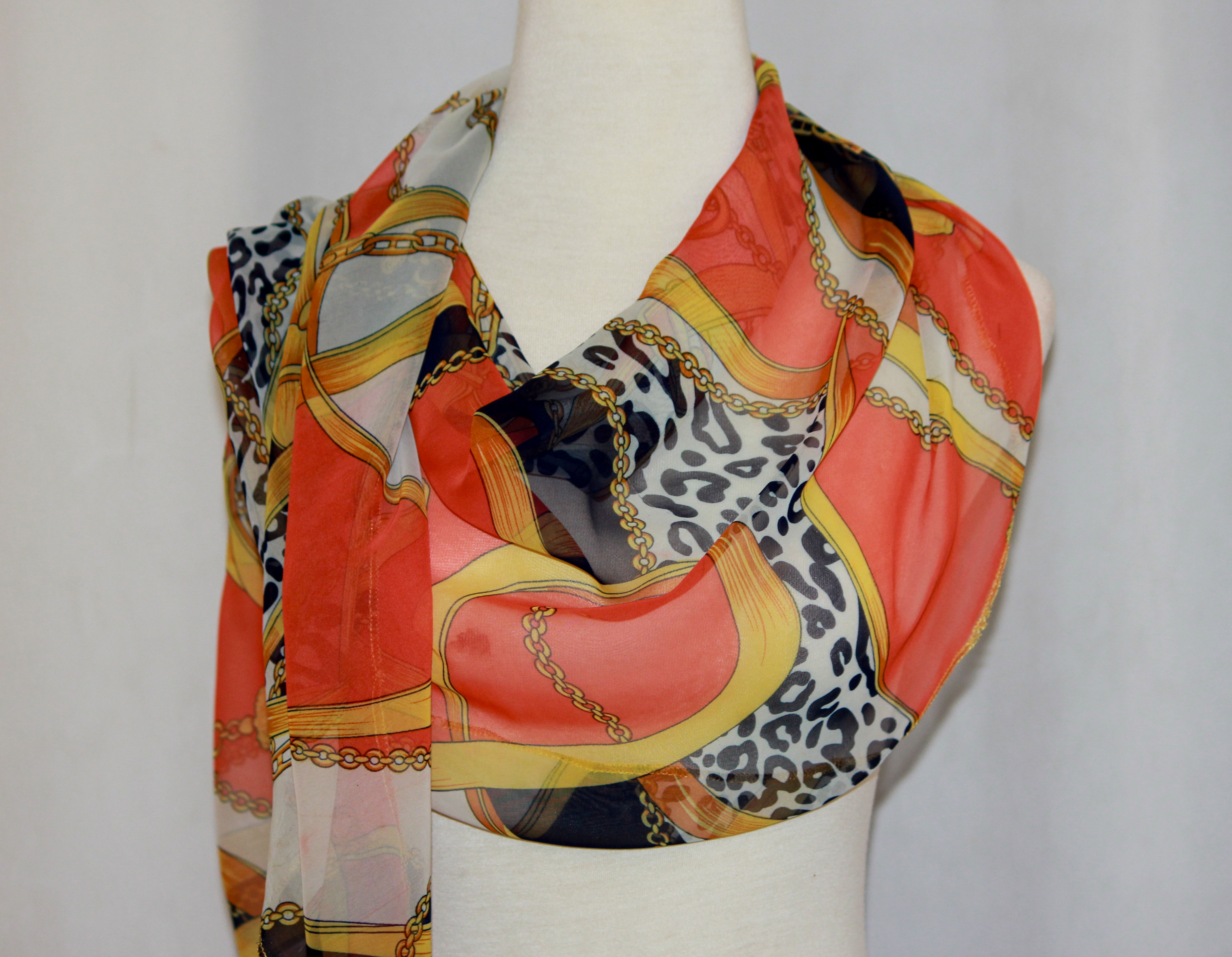 Chain Print Scarf on arewa fashion