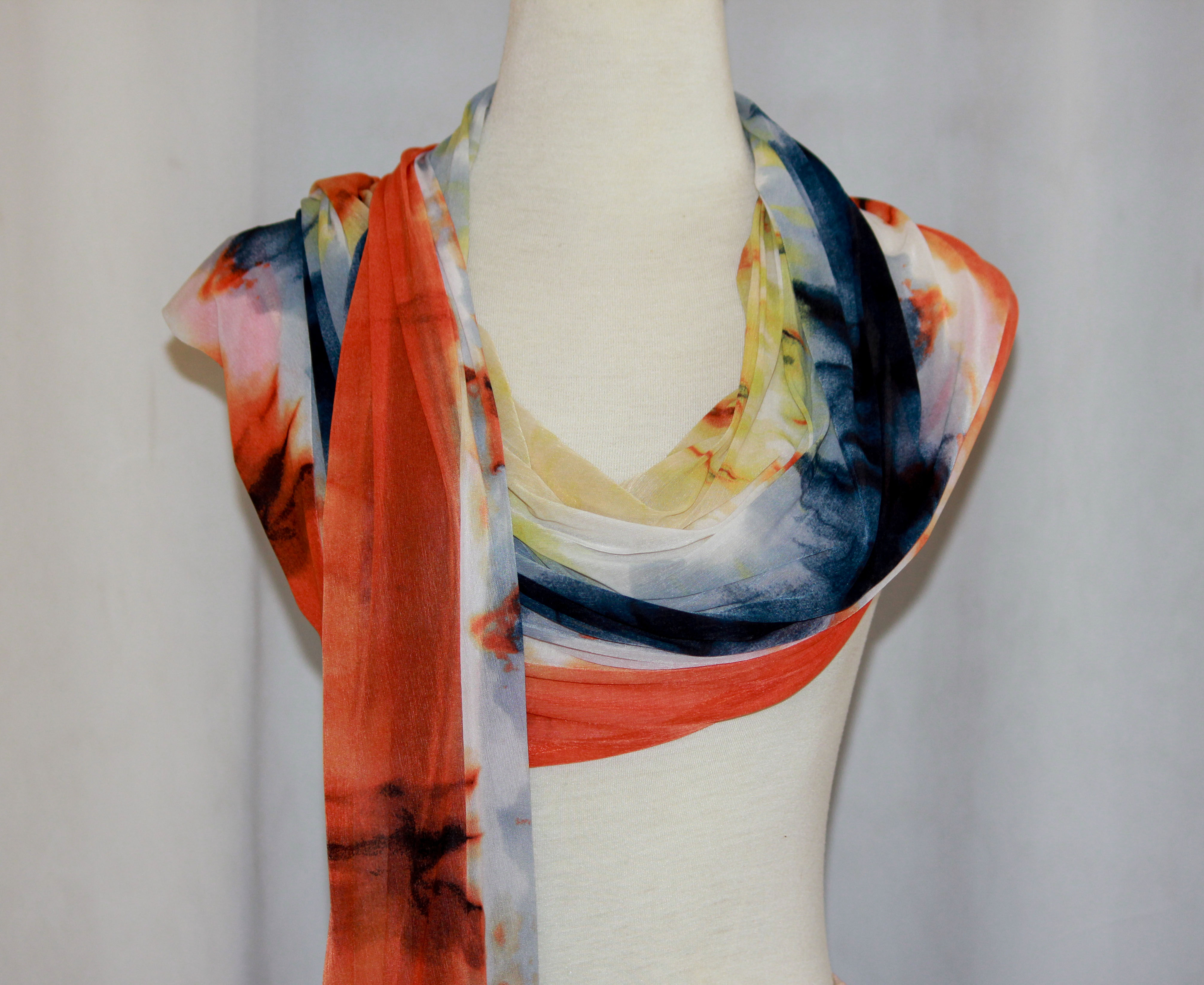 Multi-Colored Print Scarf on arewa fashion