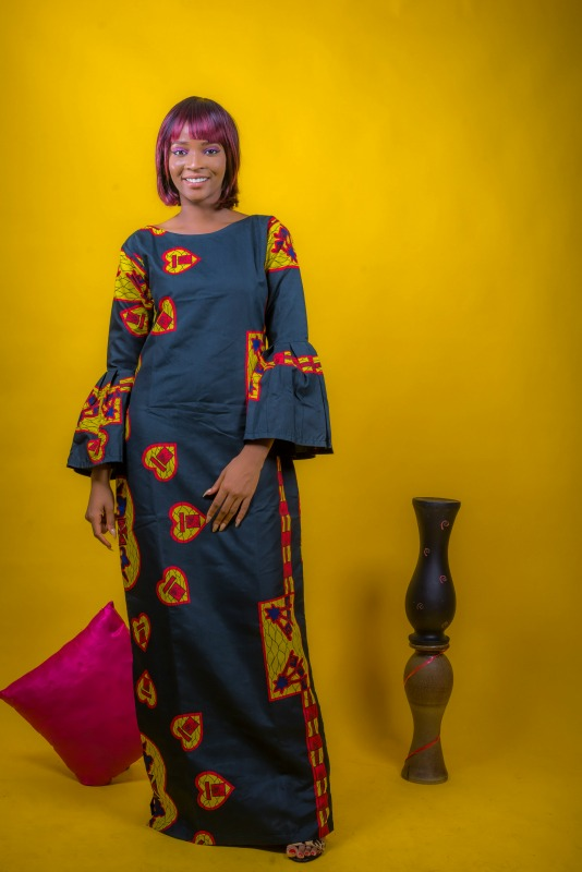 Wendy Bell Sleeve Dress on arewa fashion