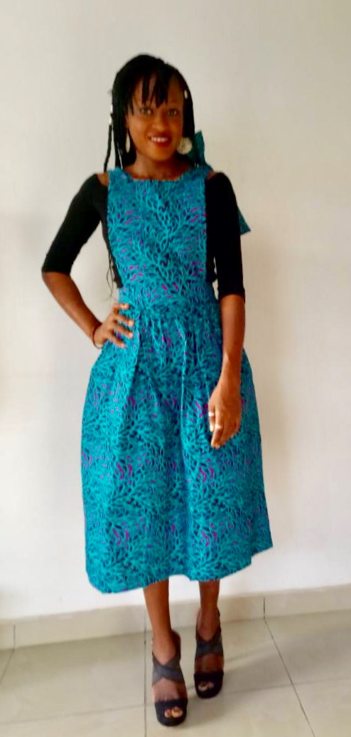 Ankara Pinafore Blue on arewa fashion